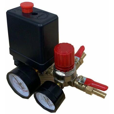 ILoveMilan Compresseur d'air Soupape de pression du compresseur d'air avec dispositif de mesure de régulateur