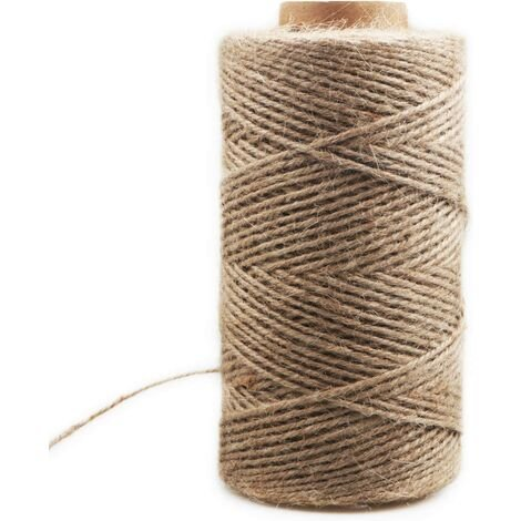 ILoveMilan Corde de chanvre décoratif 3mm (200M corde de chanvre décoratif corde de sisal épaisseur rétro corde de jute fait à la main bricolage tag corde éclairage corde de chanvre corde de griffe de chat-