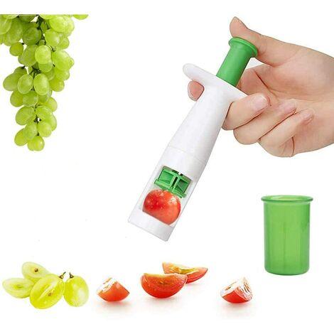 ILoveMilan Cutter, coupe-tomateuse, tailleur de fruits et légumes, outil de coupe créatif multifonctionnel