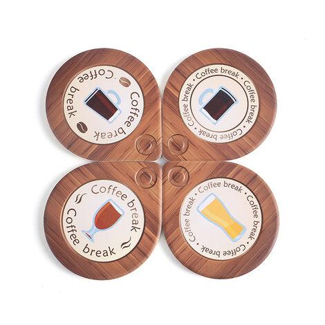 ILoveMilan Goutte d'eau en céramique Coaster tasse à café tapis combinaison manique européenne et américaine ameublement à double usage en liège isolation napperon