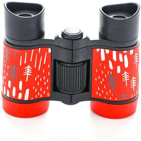 ILoveMilan Jumelles télescope pour enfants impression couleur télescope pour enfants 4 * 30 rouge
