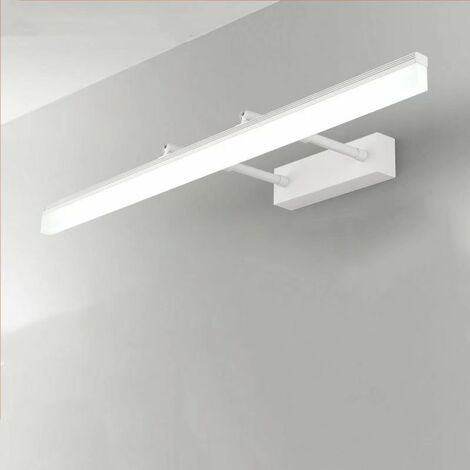 ILoveMilan Miroir télescopique armoire miroir lumière avant LED salle de bain salle de bain lumière Simple moderne anti-buée blanc miroir de maquillage lumière