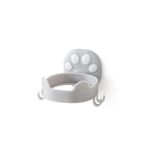 ILoveMilan Porte-sèche-cheveux haut de gamme sans couture sans trou Tenture murale Toilette Salle de bain Rangement de toilette Chat Griffe Sèche-cheveux Gris