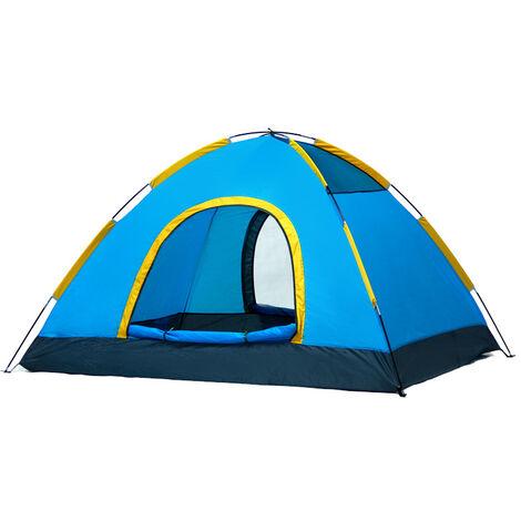 ILoveMilan Tente de Camping Ultra-Légère pour 2-3 Personnes Facile à Installer avec Sac de Transport Respirant & Imperméable & Anti-Insectes & Ventilée Tentes pour Pique-Nique, Randonnée, Camping,Jaune bleu