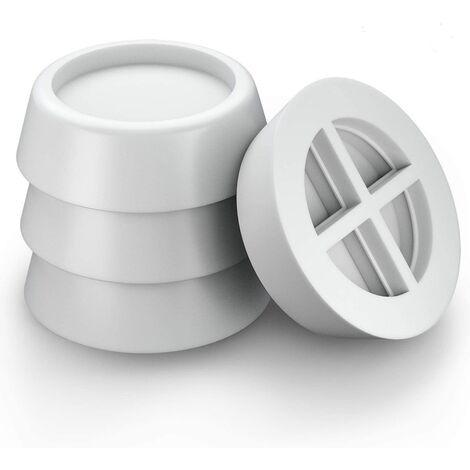 Ilovemono Amortisseur pour machine à laver, coussin en caoutchouc antichoc universel pour machine à laver et sèche-linge - blanc