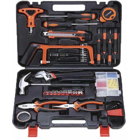 Ilovemono Boîte à outils matérielle multifonctionnelle Électricien Réparation du bois Ensemble de combinaison d'outils manuels