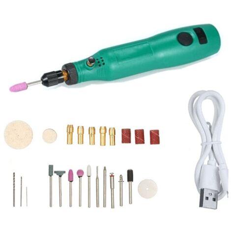 Ilovemono Broyeur électrique USB chargement petit broyeur électrique jade sculpture stylo polisseur à ongles batterie au lithium outils électriques A
