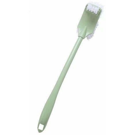 Ilovemono Ensemble de brosse de toilette de salle de bain avec base verte