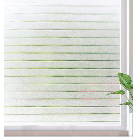 Ilovemono Film de verre fenêtre film décoration murale stores fenêtre pliante 45 cm de large * 100 cm de haut