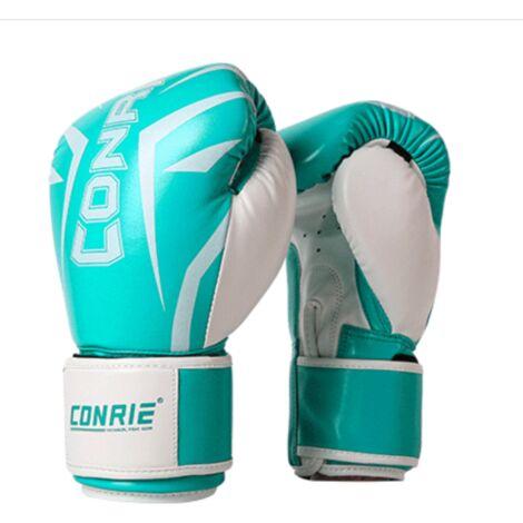 Ilovemono Gants de boxe Gants Sanda Gants pour adultes Gants d'entraînement Gants de sac de frappe Gants de combat de jeu, 6 oz Vert