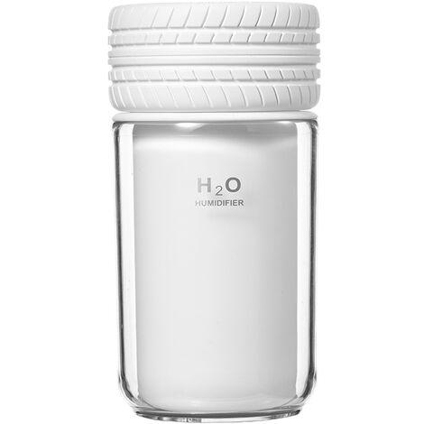 Ilovemono Humidificateur de voiture, humidificateur de grande capacité, humidificateur à supplément d'air, humidificateur USB portable, humidificateur de veilleuse, blanc