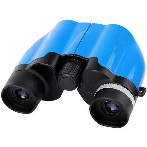 Ilovemono Jumelles Télescope pour enfants Télescope d'aventure en plein air pour enfants, 8 x 22 bleu