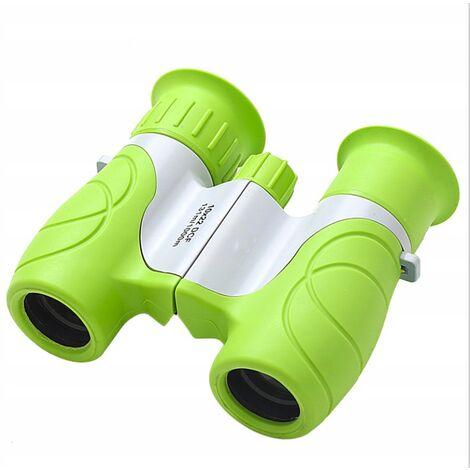Ilovemono Jumelles télescope pour enfants télescope d'extérieur jouet d'extérieur pour enfants, 10x22 vert