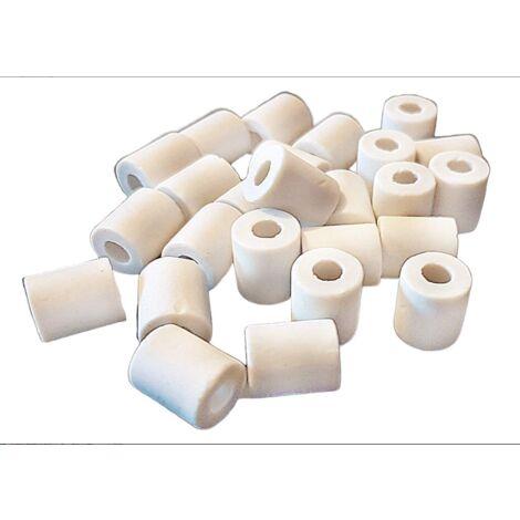 Ilovemono Kit de filtre à eau du robinet en argile naturelle microbiologiquement efficace pour tubes 25x pour 2 bouteilles de verre, bouteille en verre, gourde, bouilloire, machine à café de réserve d'eau Japon