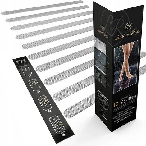 Ilovemono Luana Rose Anti-Rutsch Streifen für Badewanne & Dusche - Transparent & Selbstklebend - Premium Anti rutsch Badewannen Aufkleber Set - Dusch Sticker für 100% Rutsch-Schutz für Ihr Bad & Treppenstufen