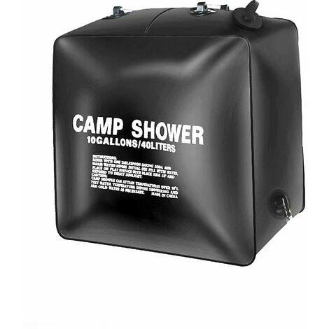 Ilovemono Sac de douche 40L Sac à eau de bain solaire extérieur Bain de camping lavage