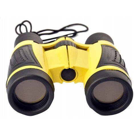 Ilovemono Télescope pour enfants Télescope d'aventure en plein air Télescope jouet 5x30 jumelles, jaune