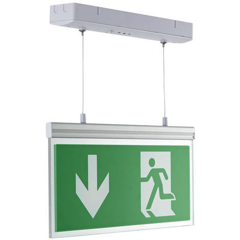 Iluminación de emergencia LED, señalización de salida y mamparo - Luz mantenida / no mantenida