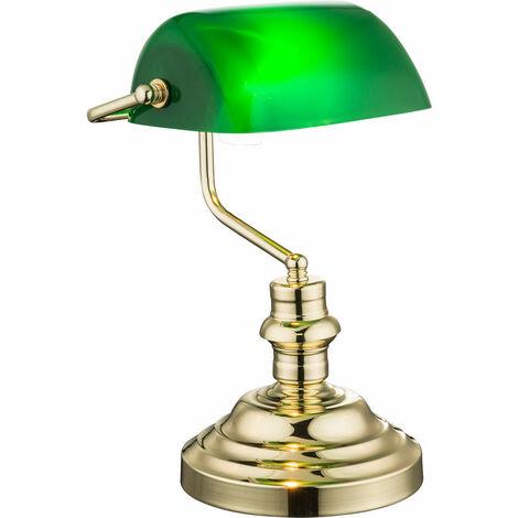 iluminación de la lámpara retro verde Lámpara de mesa de banquero remoto atenuado en el sistema incluyendo las lámparas LED RGB