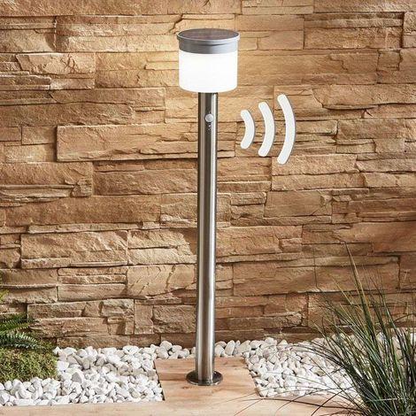 Iluminación de senderos LED solar Cathleen, acero