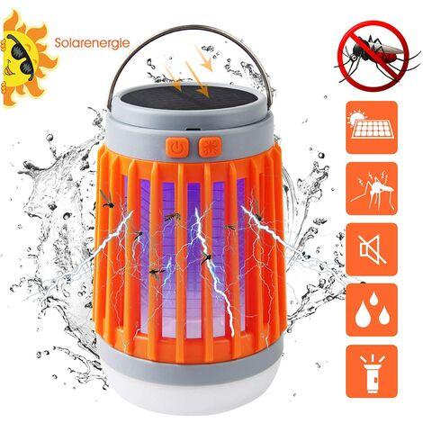 Iluminación exterior - Mosquitera 3 en 1 Lámpara de camping repelente de mosquitos - Naranja