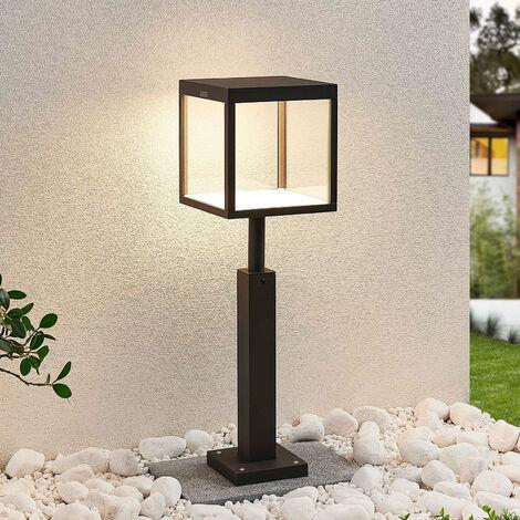 Iluminación LED senderos Cube, grafito, IP54, 60cm
