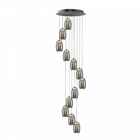 Iluminación para comercios, lámpara NEBULA 12L LED CROMO