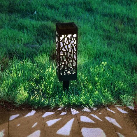 Iluminación solar al aire libre impermeable de la decoración de la lámpara del jardín del LED para el paisaje blanco