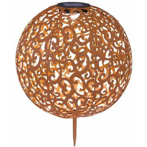 Iluminación solar LED para exteriores Iluminación de senderos de jardín Decoración de lámpara de enchufe de bola Troquelados Globo 33744R