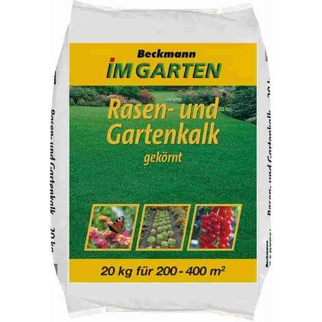 20kg gekörnter Rasen- und Gartenkalk 200-400m² (Kohlensaurer Kalk)