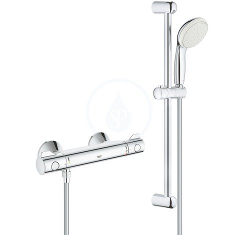 Shower riser rails
