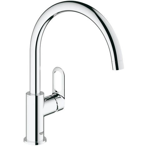 Single lever kitchen taps