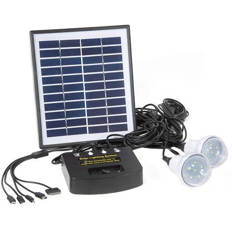 Kit solaire pour éclairage autonome (avec LED)