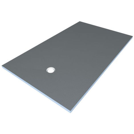 Under-tile wetroom shower tray