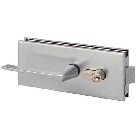 Glass door hinges and locks