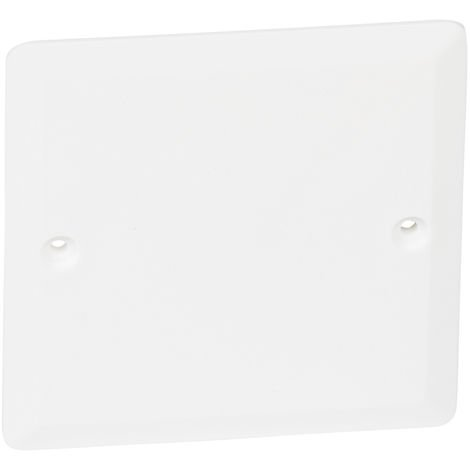 Blanking and finger plates for switches and sockets