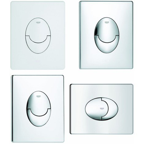 Wall flush button for concealed cystern