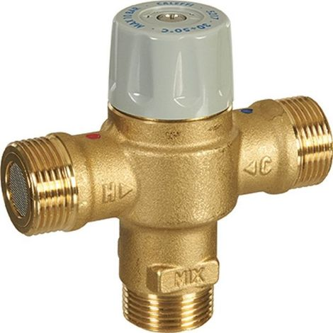 Thermostatic mixers and valve cartridges