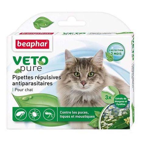 Pipette et spray antiparasitaire pour chat