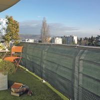 Windbreak and privacy netting, brushwood screening, and fencing