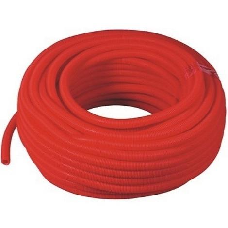 Gaine isolante en polypropylène rouge 50m Diam 28 int
