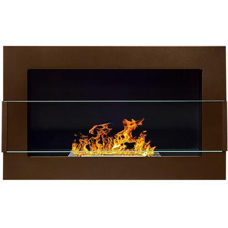 Selsey ASTRALIS - Cheminée bioéthanol - 65x40 cm - bronze - TÜV - en acier - style moderne