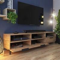 Selsey RIKKE - Meuble TV / Banc TV (chêne wotan, 160 cm)