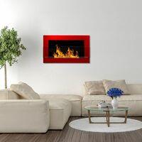 Selsey ASTRALIS - Cheminée bioéthanol - 65x40 cm - rouge brillant - TÜV - en acier - style moderne