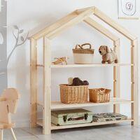 Selsey JAFARI - Bibliothèque enfant / Bibliothèque cabane (bois de pin, 126 cm)