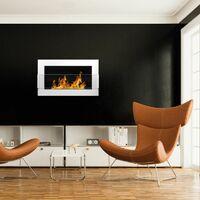 Selsey ASTRALIS - Cheminée bioéthanol - 65x40 cm - blanc brillant - TÜV - en acier - style moderne