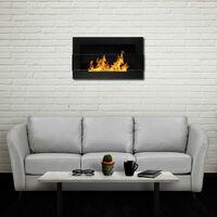 Selsey ASTRALIS - Cheminée bioéthanol - 65x40 cm - noir structurel - TÜV - en acier - style moderne