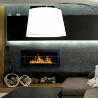 Selsey ASTRALIS - Cheminée bioéthanol - 90x40 cm - noir structurel - TÜV - en acier - style moderne