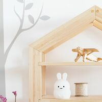 Selsey JAFARI - Bibliothèque enfant / Bibliothèque cabane (bois de pin, 95 cm)