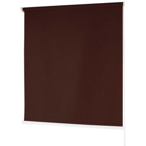 Estores BARATOS Enrollables Poliéster Mecanismo y Cadena en PVC Marron Oscuro 100x180 cm